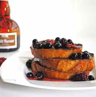 French Toast with Grand Marnier and Warm Berry Compote