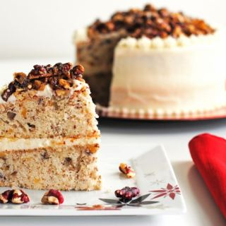 Red Walnut Praline Cake
