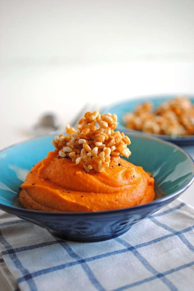 Sweet Potatoes with Crispy Rice Topping 3