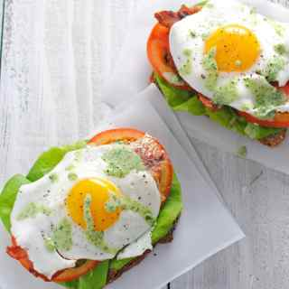 Open-Face Green Goddess BLT's