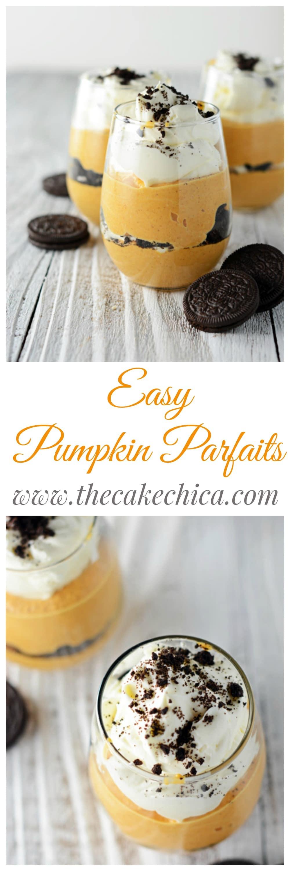 Easy Pumpkin Parfaits