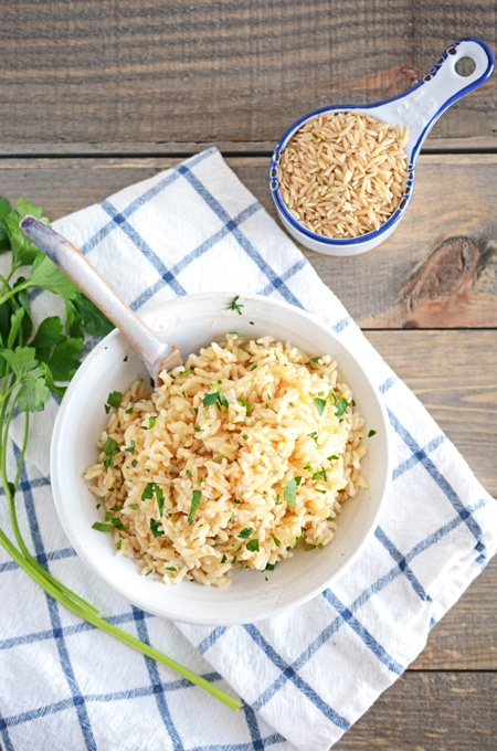 Easy Baked Brown Rice