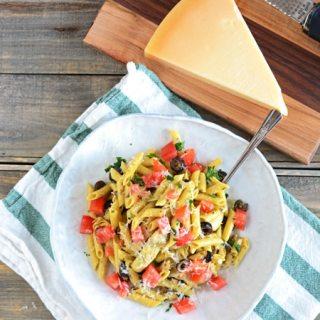 Gluten Free Veggie Pasta in Olive Oil Sauce
