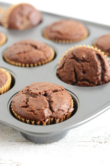 Chocolate Cupcakes with Caramel-Espresso Frosting