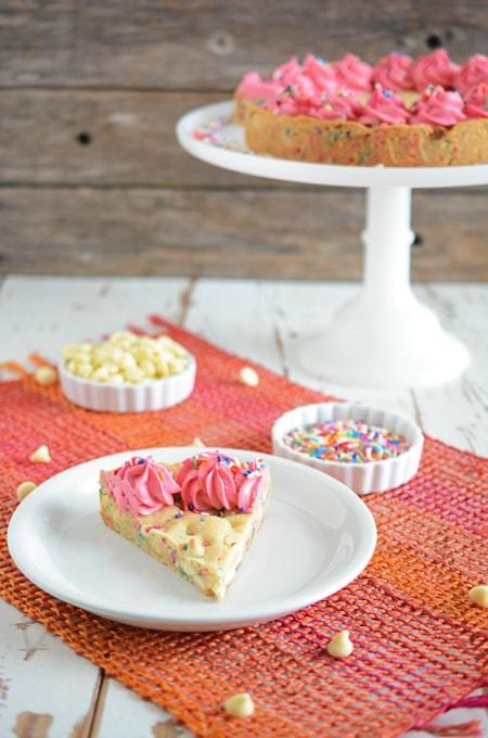 Confetti Cookie Cake