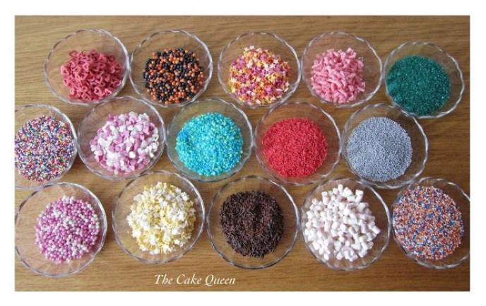 Reto Sprinkle, tarros llenos de sprinkles de diferentes colores