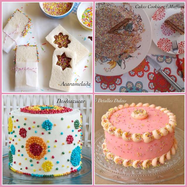 Collage RETO Sprinkle, tartas de Acaramelada, Cakes, cookies y Muffins, Desdeazucar y Detalles dulces
