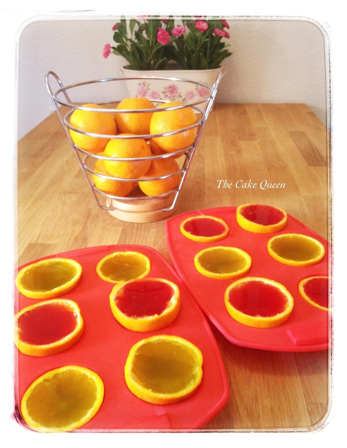 Rellena tus naranjas con la gelatina