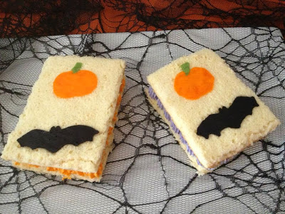 Sandwiches de Halloween de The Cookies family para el reto de Halloween