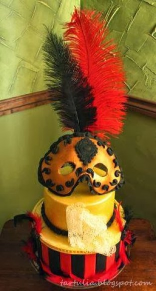 Tarta de Rosana de Dulce Tartulia para el reto de carnaval