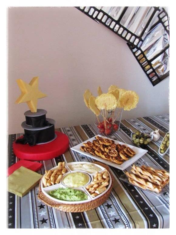 Mesa salada para celebrar el cumpleaños de Nacho