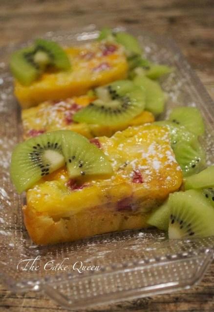 Tortilla de Kiwis al horno, un postre muy light y rico