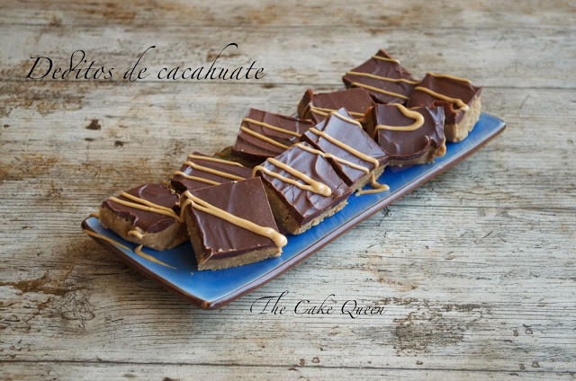 Deditos de cacahuate y chocolate