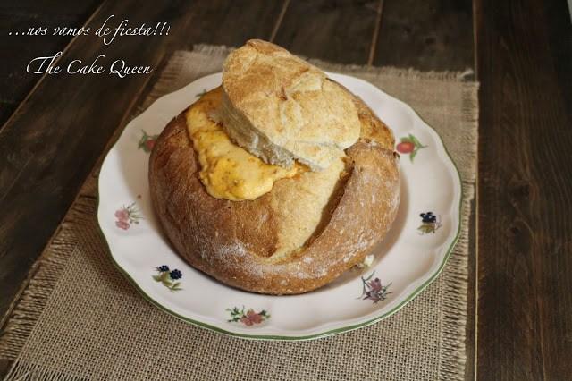 Pan portugués de chorizo, acabado de sacar del horno, una entrada deliciosa