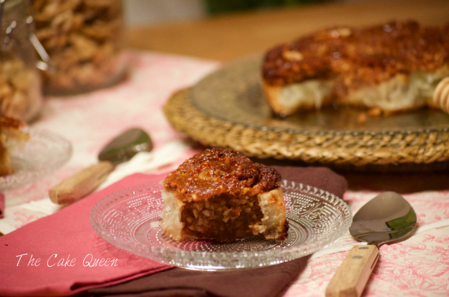 """""""BAKLAVA"""" cakeroll de miel, limón y frutos secos"""