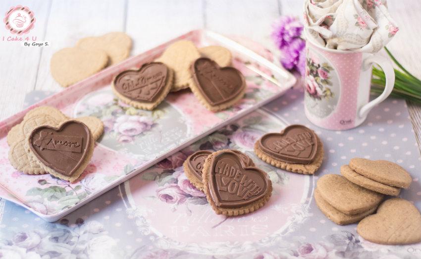 cookies de speculoos con chocolate al caramelo estilo petit ecolier de mi compañero Goyo del blog I cake 4 U