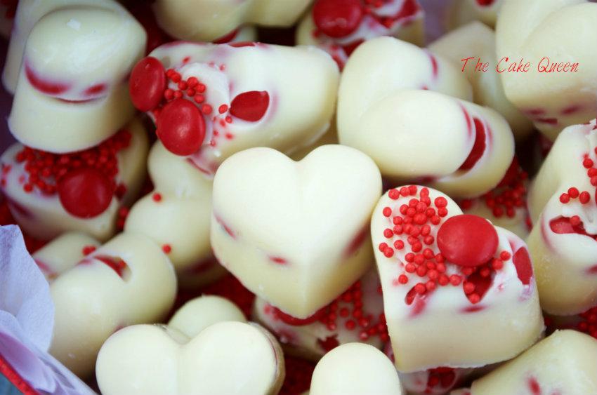 Bombones de chocolate blanco con mini Lacasitos, unos bombones deliciosos