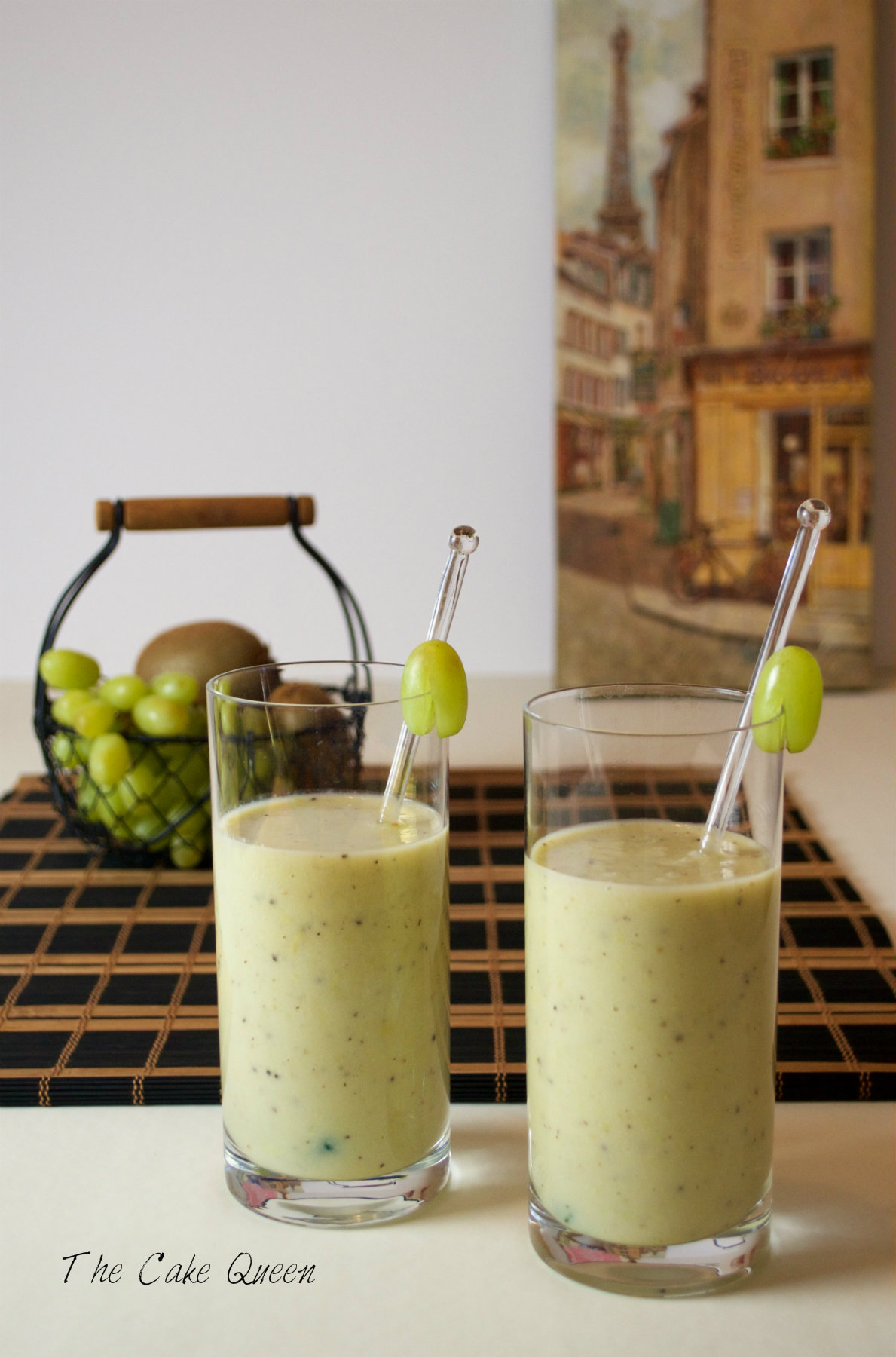 Batido de uvas y kiwis