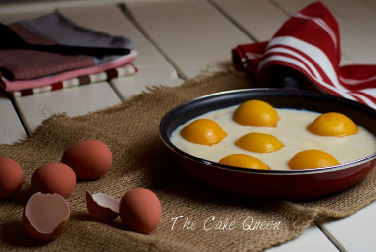 Pastel de huevos fritos un trampantojo muy dulce
