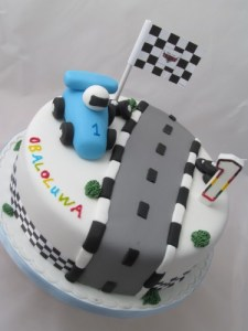 1st Birtthday Race car theme Cake