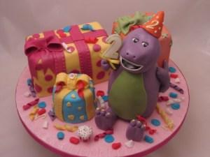 3d  Barney Birthday cake
