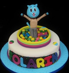 Amazing world of Gumball cake with Gumball cake topper