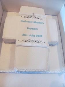 Cross Cake for Baptism