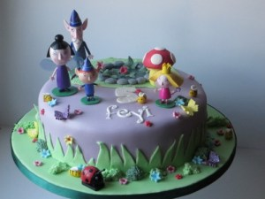 Ben and Holly 5th Birthday Cake