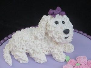 Handmade Bichon-dog-cake-topper