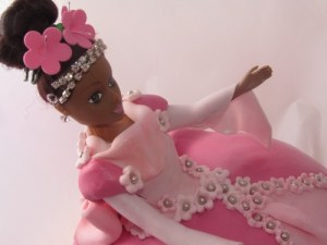 Black Princess Cake topper