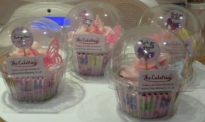 Butterfly cupcakes in individual pods