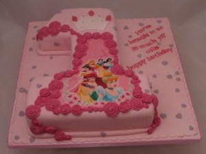 Number 1 Disney Princesses Cake