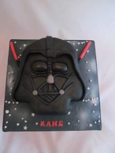 Darth Vader Face Cake