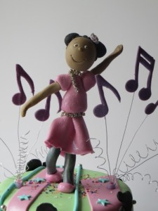 Disco dancer girl cake topper
