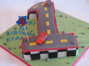 Number 1 Disney Cars Cake