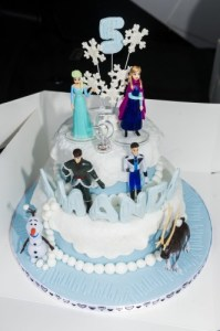 Disneys Frozen 2tier 5th birthday cake