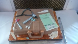 Doctors bag retirement cake