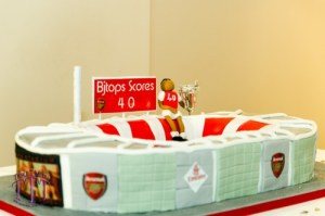 Emirates Stadium Cake