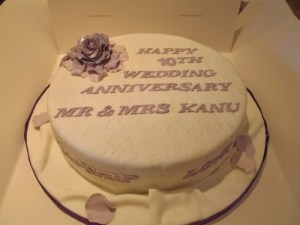 Wedding Anniversary Cake with Floral theme