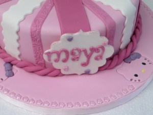 Fondant Cake Name Plaque