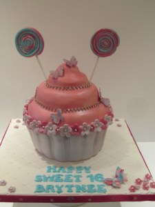 Bling Giant Cupcake for 16th Birthday