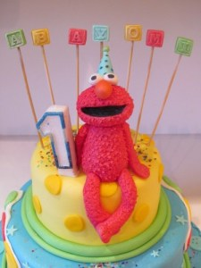 Handmade Sugar Elmo Cake Topper