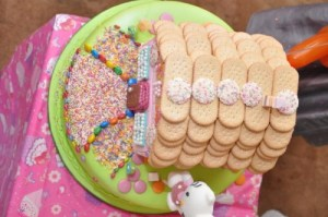 Biscuit Roof for Enchanted House Cake