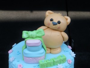 Teddy bear and gifts baby shower topper