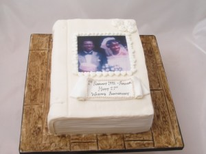 Wedding Anniversary Album Cake
