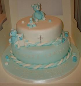 Teddy Bear Christening cake
