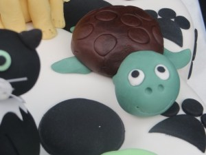 Cute turtle cake topper