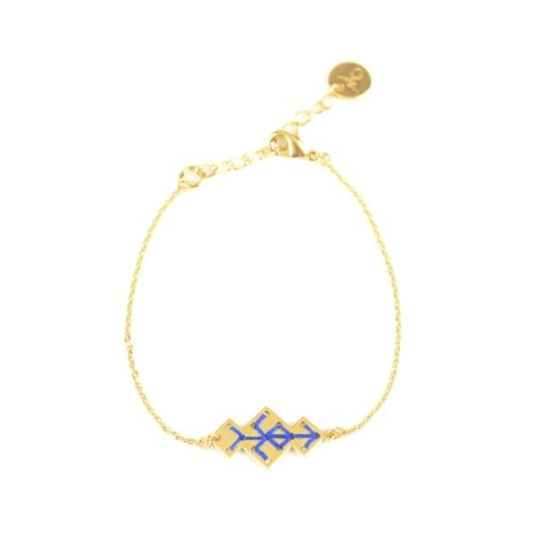 Bracelet Souika bleu majorelle