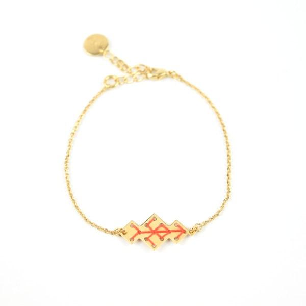 Bracelet Souika orangé