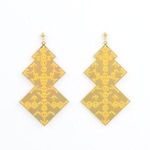 The Camelia bijoux - Boucles d'oreilles Oudayas jaune